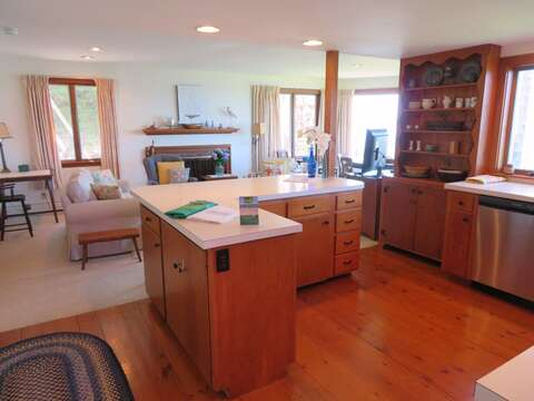 Entry into the kitchen and family room - 299 Cranberry Lane North Chatham Cape Cod New England Vacation Rentals