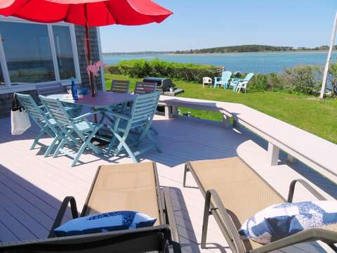 Lounge the day away and enjoy the beautiful views..299 Cranberry Lane North Chatham Cape Cod New England Vacation Rentals