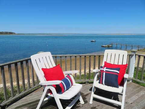 The views from the balcony off bedroom 4- 299 Cranberry Lane North Chatham Cape Cod New England Vacation Rentals