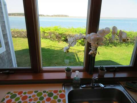You won't even mind doing dishes as you take in this view!!  299 Cranberry Lane North Chatham Cape Cod New England Vacation Rentals