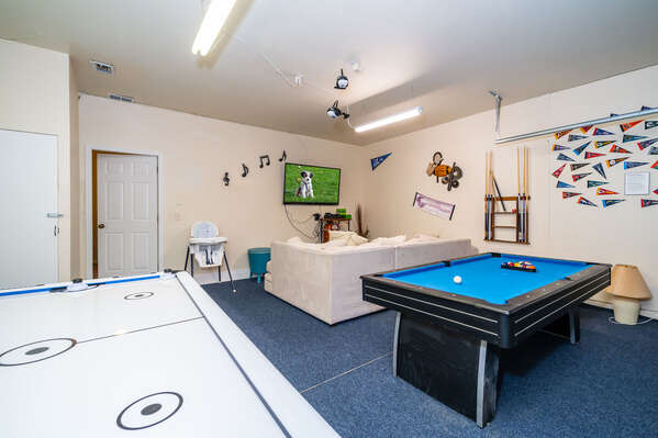 Garage converted to games room