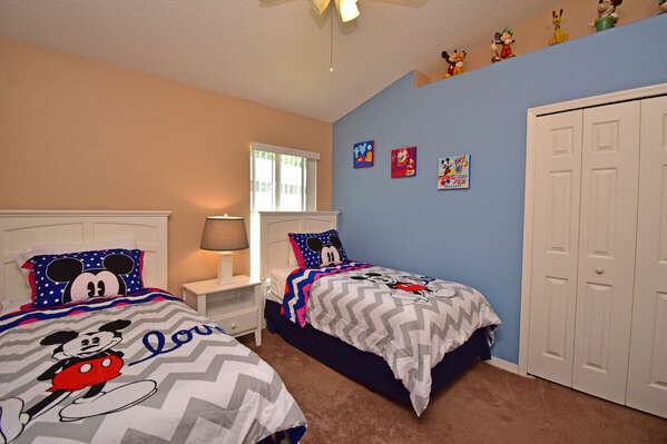 Bedroom 4 has a Mickey Mouse(R) theme