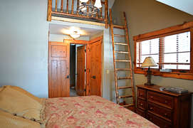 There is a small loft in the second bedroom.