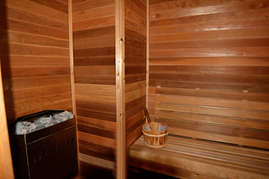 Relax in the sauna  after a long day on the slopes.