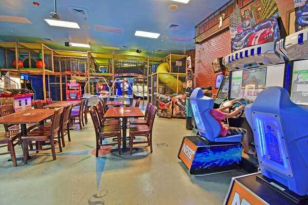 On-site facilities:- Gaming arcade and jungle gym