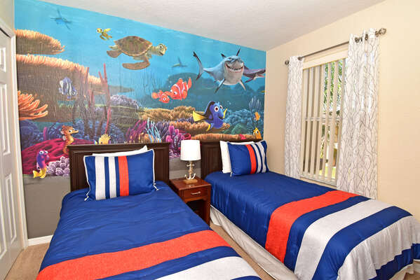 Bedroom 4 has a Finding Nemo theme