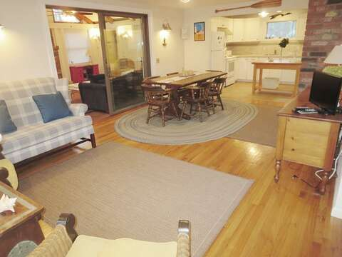 Open Living and Dining  - 156 Beach Plum Lane Brewster Cape Cod New England Vacation Rentals
