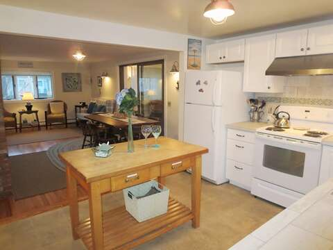 Open style-Kitchen-dining and living- 156 Beach Plum Lane Brewster Cape Cod New England Vacation Rentals