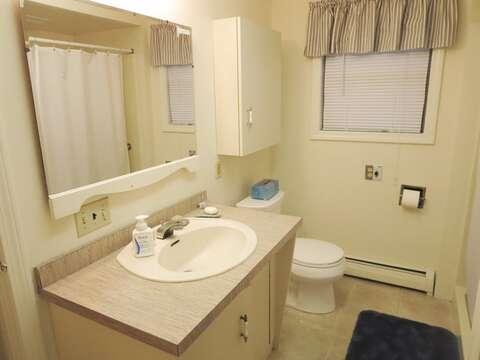 Off Hall First Floor Full Bathroom with shower - 156 Beach Plum Lane Brewster Cape Cod New England Vacation Rentals
