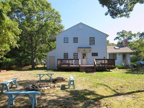 Exterior -large Yard even a firepit to roast your marshmallows - 156 Beach Plum Lane Brewster Cape Cod New England Vacation Rentals