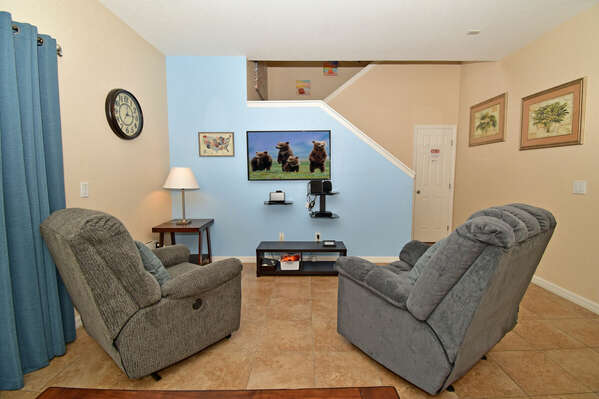 Recliners in living area (downstairs)