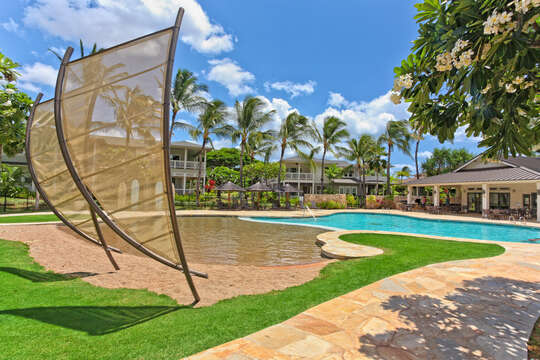 Large Pool and Spacious Covered Patio.