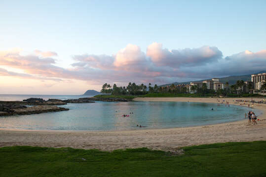 Large Beach Outside of Our Ko Olina Resort Vacation Rental.