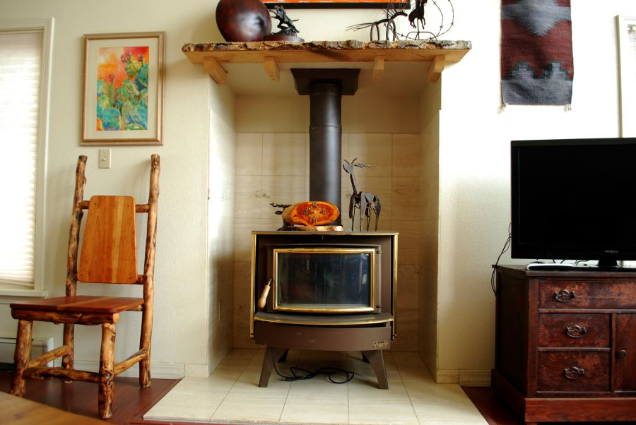 Wood stove is the best way to stay warm