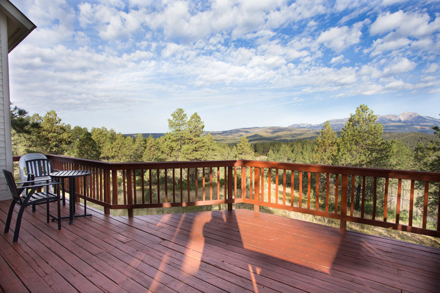 Incredible views from the deck