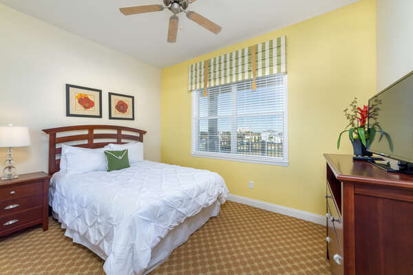 The third bedroom also offers a queen sized bed