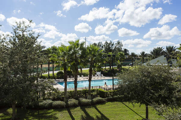 View of the Terraces pool from your balcony