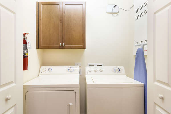 Enjoy a full sized washer and dryer in your condo