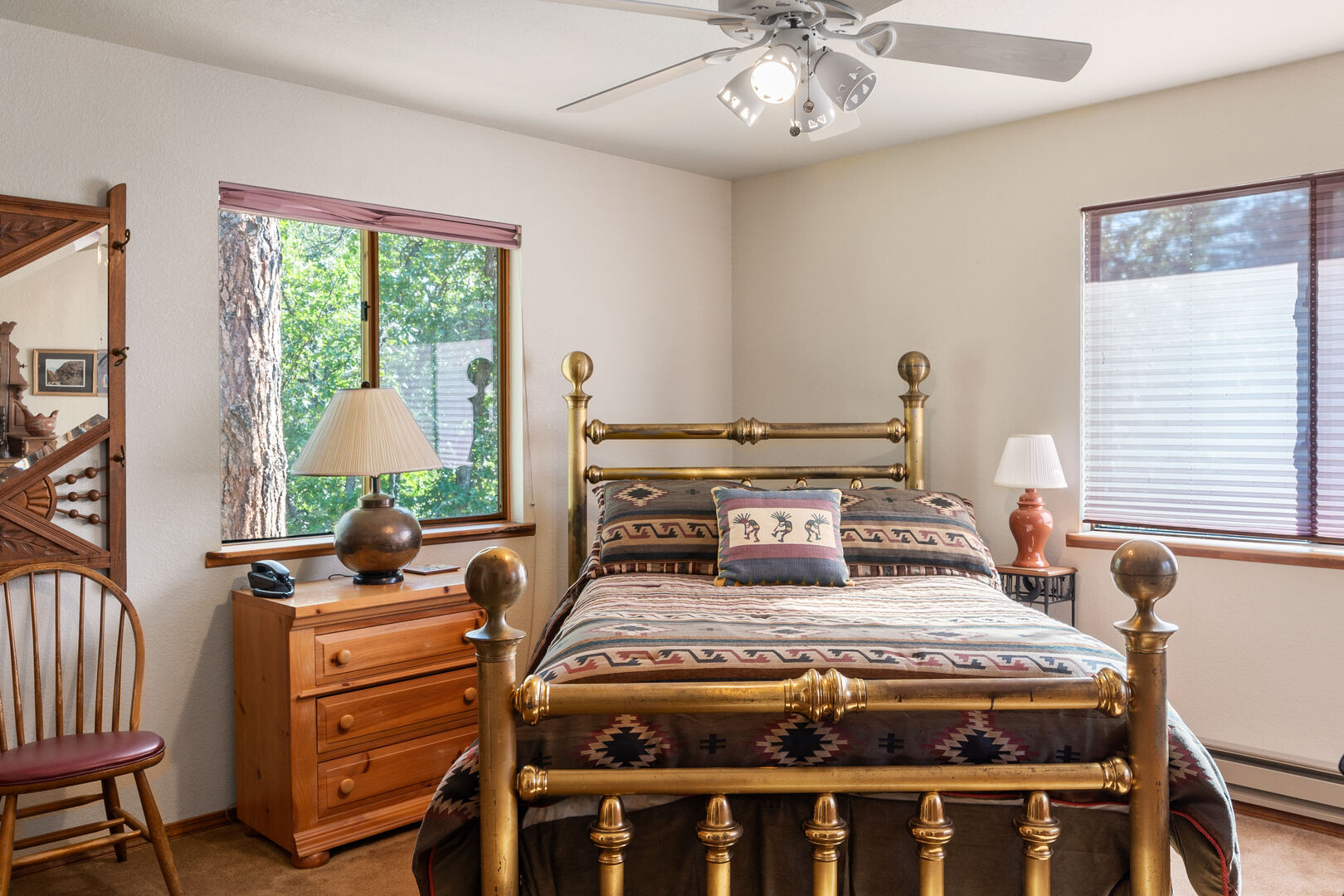 Bedroom with double