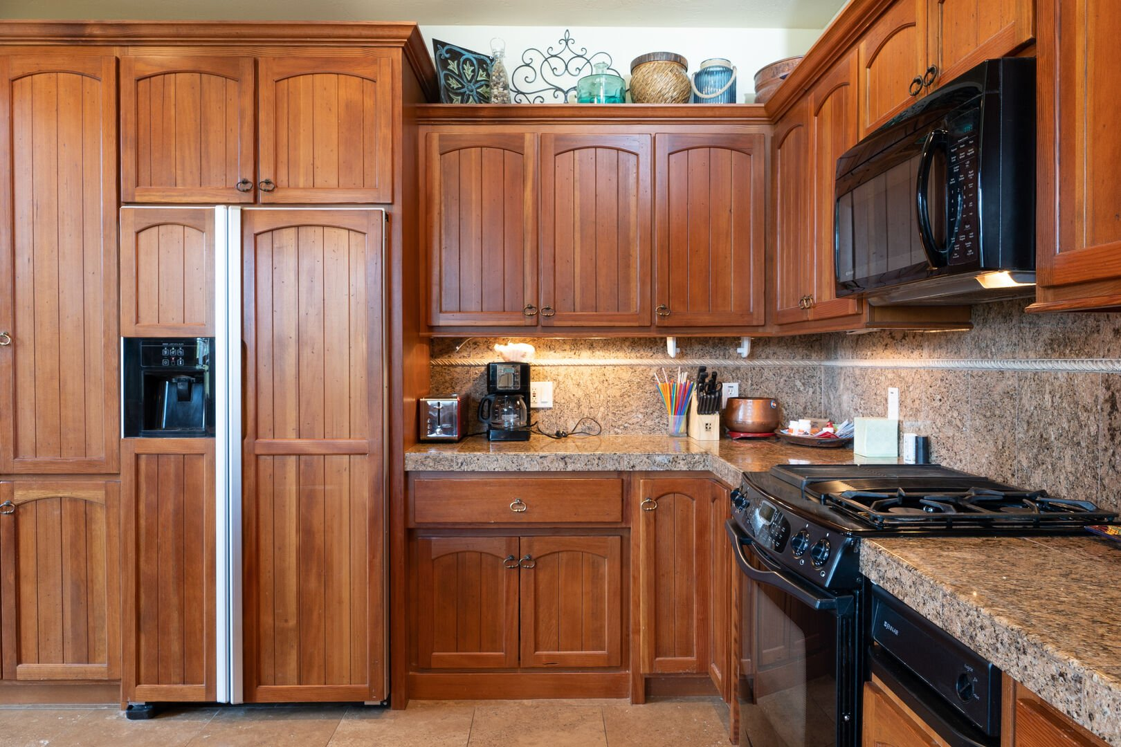 Kitchen is stocked with everything you need to cook a great meal