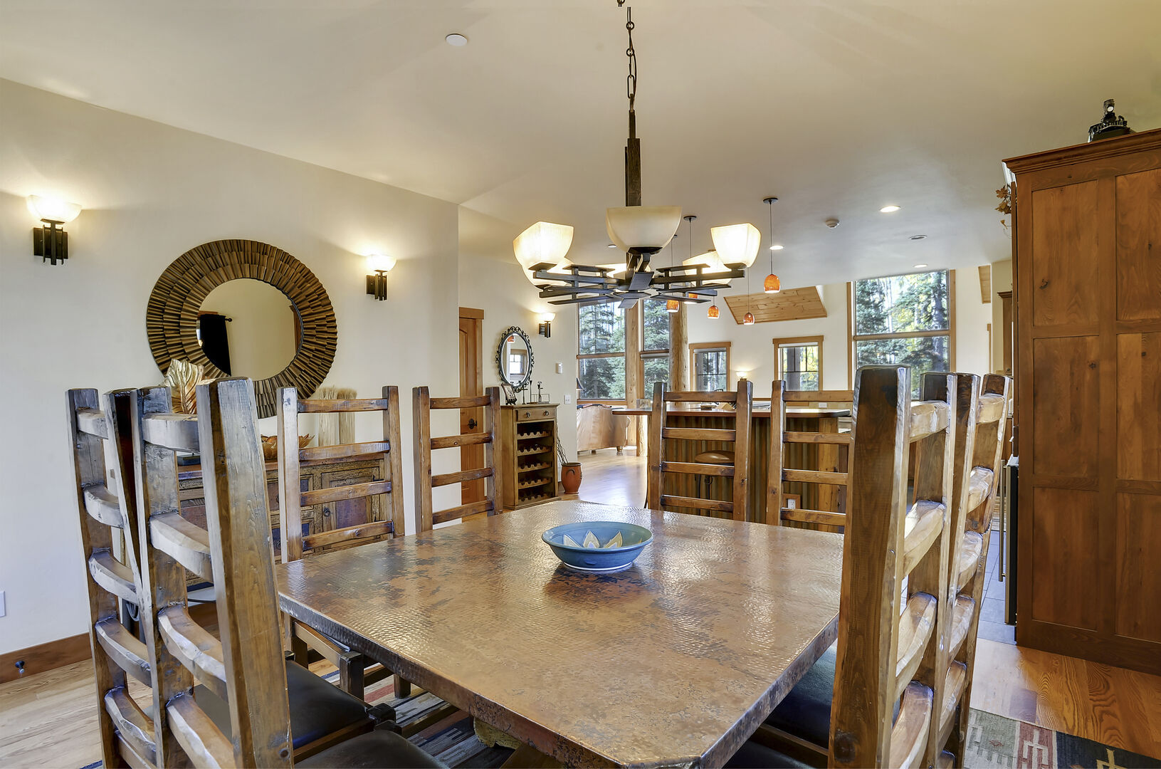 Dining table seats 8