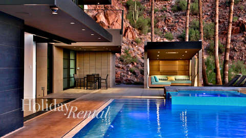 Pool view along with the outside cabana