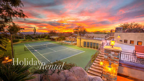 Tennis court perfect for guest