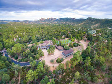 Arial view of entire property, including guest house and main house. NOTE TENNIS COURT NOT ADVERTISED FOR GUEST USE