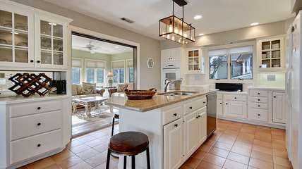 The kitchen is perfect for creating meals for your family and friends.