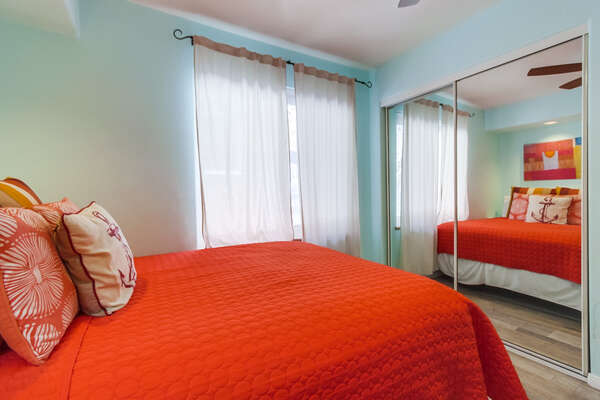 Guest Bedroom with 1 Queen, 1 Twin Bed on Ground Floor of this san diego vacation home rental