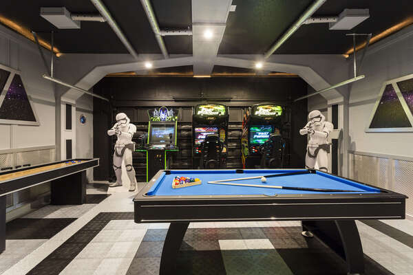 The ultimate Star Wars themed games room