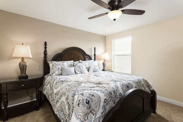 The second master bedroom is on the ground floor and also offers a king