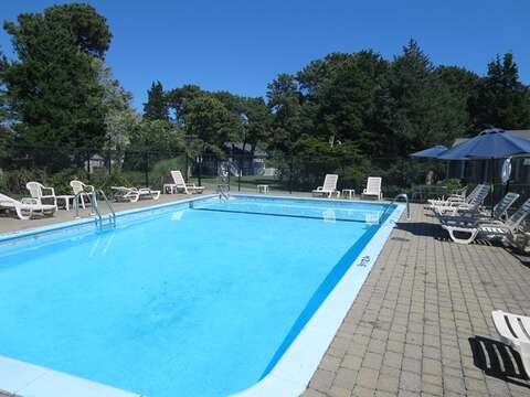 association pool -gated - pool hours posted- 767 Route 28 #5 Harwich Port Cape Cod New England Vacation Rentals