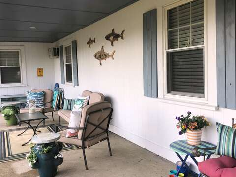 Sit on the front porch and enjoy your favorite libation- 767 Route 28 #5 Harwich Port Cape Cod New England Vacation Rentals
