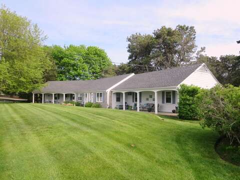 View of Condos - This is an end unit closer to the pool. .767 Route 28 #5 Harwich Port Cape Cod New England Vacation Rentals