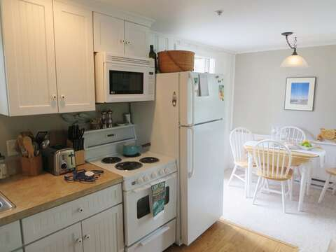 Kitchen - open to dining area-767 Route 28 #5 Harwich Port Cape Cod New England Vacation Rentals