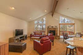 Open living area floor plan