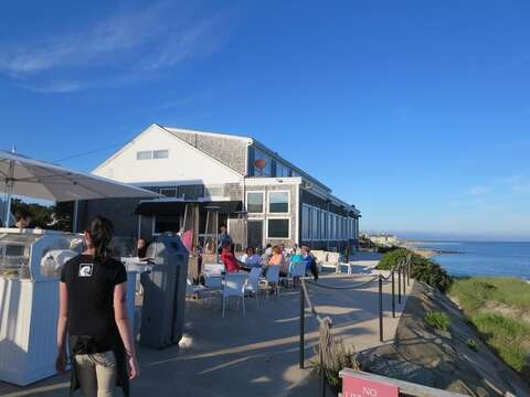 The Ocean House Beach Bar. Featuring outdoor patio and raw bar just 0.3 mile away! Sit with your favorite libation and enjoy the spectacular Nantucket Sound views! - Dennisport Cape Cod New England Vacation Rentals