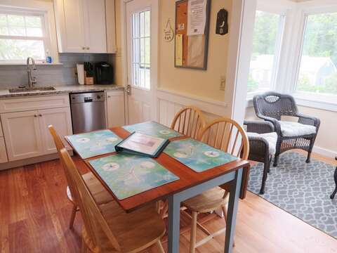 Dining area open to porch  - 13 Garden Lane Dennisport Cape Cod New England Vacation Rentals