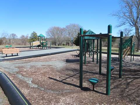 Seaview Park and recreational area. Just 0.1 mile away. Offering a dog walking park area, picnic area, and playground - Dennisport Cape Cod New England Vacation Rentals