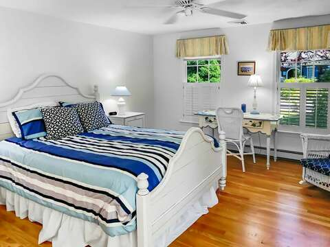 Bedroom #1 with a Queen bed on the 1st floor - 30 Cockle Cove Road Chatham Cape Cod New England Vacation Rentals