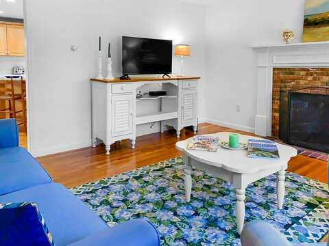 Watch your favorite shows on the flat screen tv- 30 Cockle Cove Road Chatham Cape Cod New England Vacation Rentals