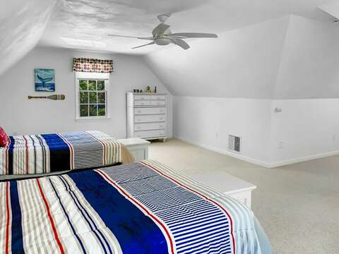 Bedroom #3 has 2 Double beds - 30 Cockle Cove Road Chatham Cape Cod New England Vacation Rentals
