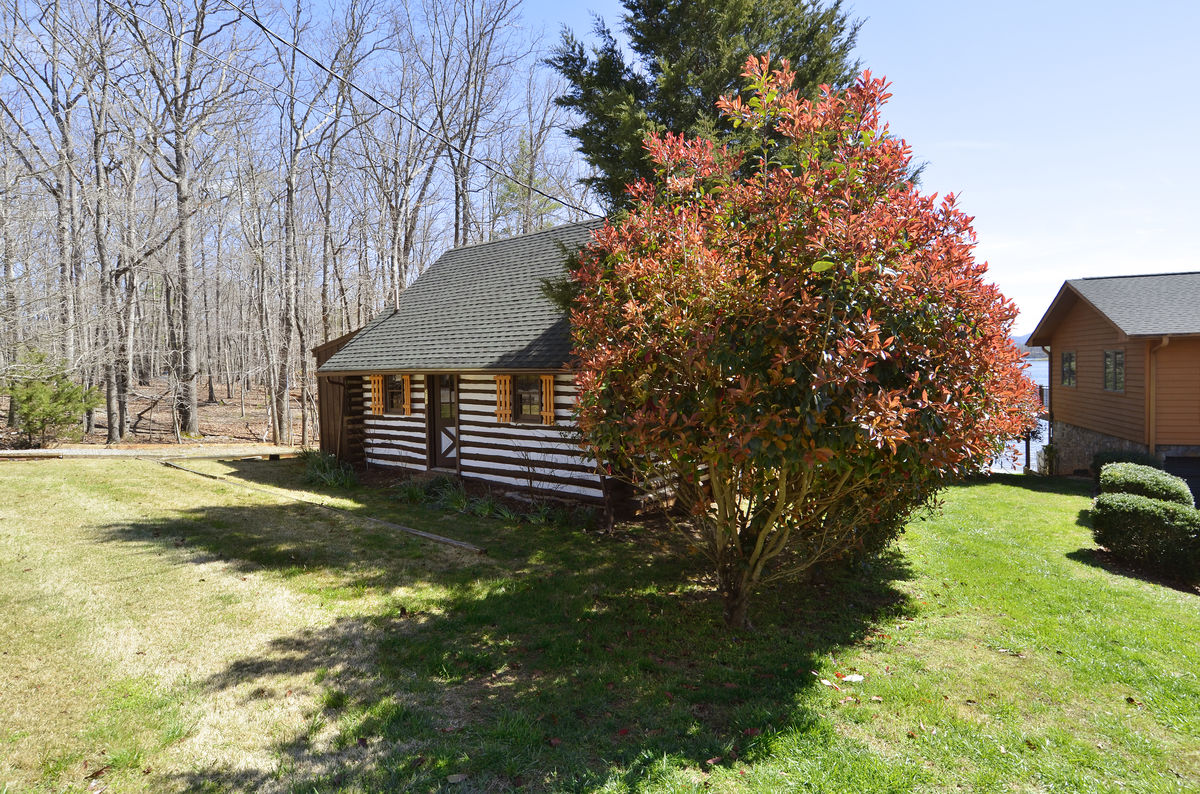 Image of Log Cabin and Main Property.
