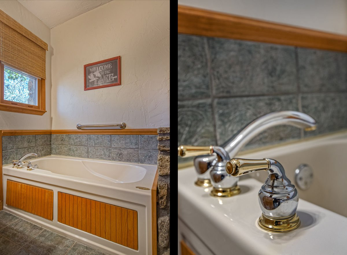 Picture of the Bathtub and the Bathtub Faucet.