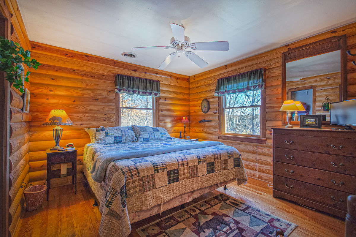 Master Bedroom with King Bed and Dresser