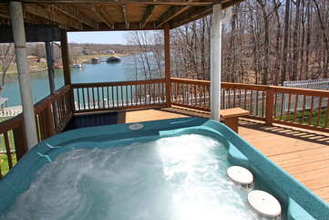 Hot Tub on Covered Patio