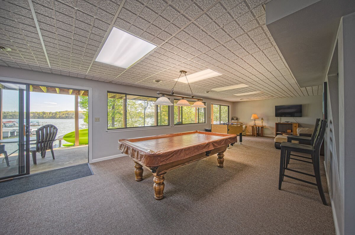 Game Room with Pool Table and Patio Access