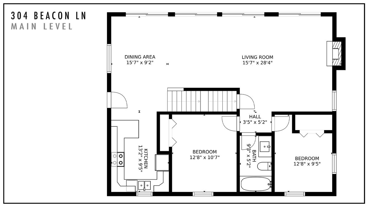304 Beacon Ln Main Level Floor Plan