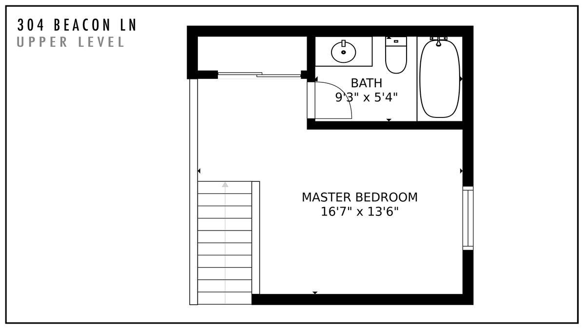 304 Beacon Ln Upper Level Floor Plan